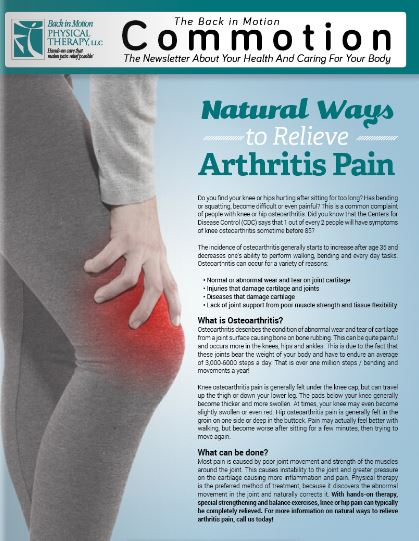 Natural Ways to Relieve Arthritis