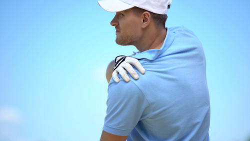 Potential causes of golf-related shoulder pain