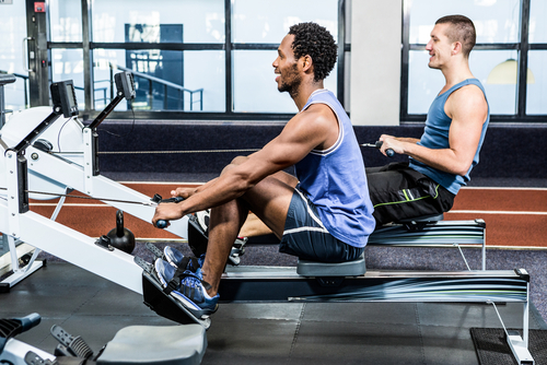 Why using a rowing machine is a recommended aerobic activity