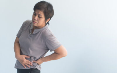Why do people feel both back and pelvic pain?